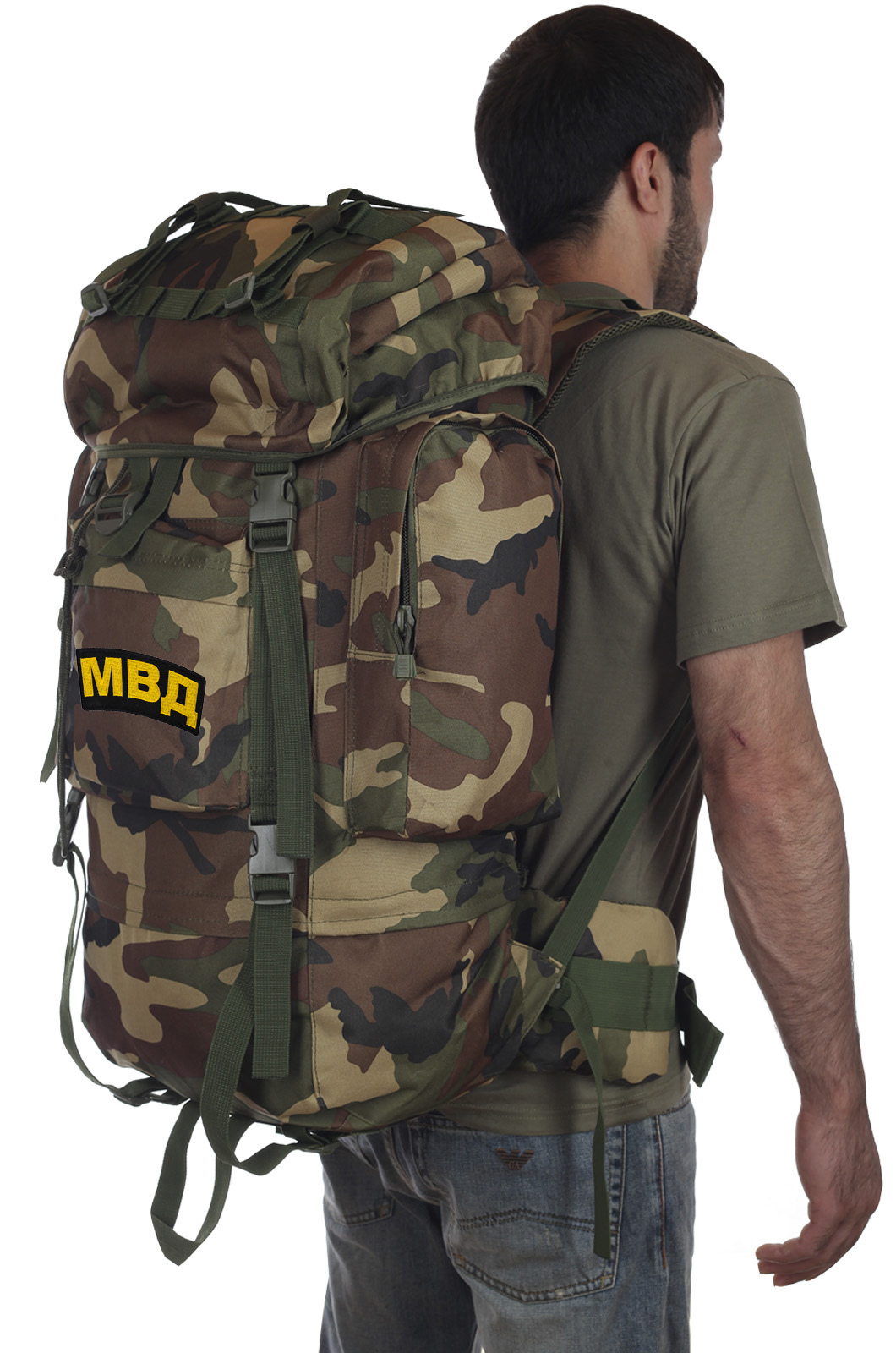 Камуфляжный рейдовый рюкзак CCE с нашивкой МВД - купить в розницу