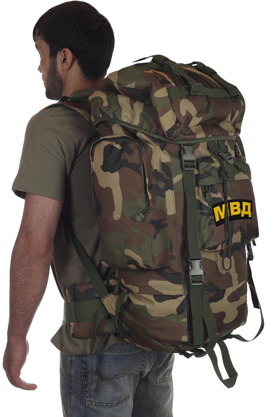 Камуфляжный рейдовый рюкзак CCE с нашивкой МВД - купить с доставкой