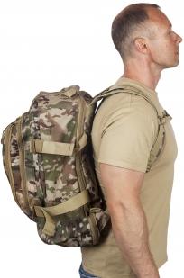 Камуфляжный рюкзак для охотника с нашивкой Русская Охота - купить оптом