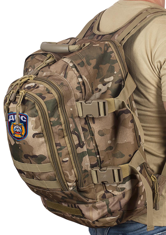 Камуфляжный штурмовой рюкзак с нашивкой ДПС