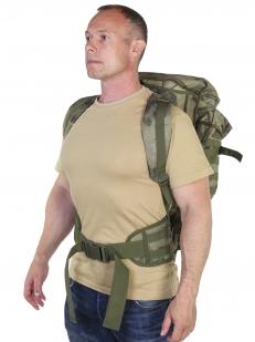 """Камуфляжный тактический рюкзак для винтовки (камуфляж Росгвардии """"Мох"""", 75 л)"""
