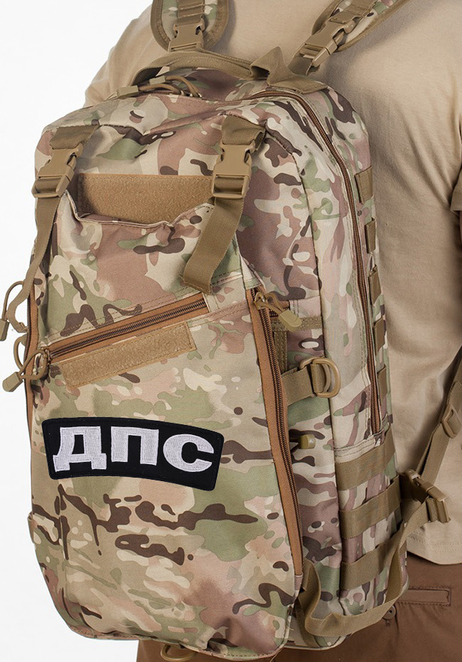 Камуфляжный тактический рюкзак с нашивкой ДПС - купить онлайн