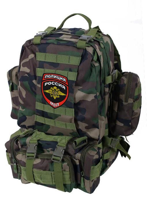Камуфляжный тактический рюкзак с нашивкой Полиция России - купить с доставкой