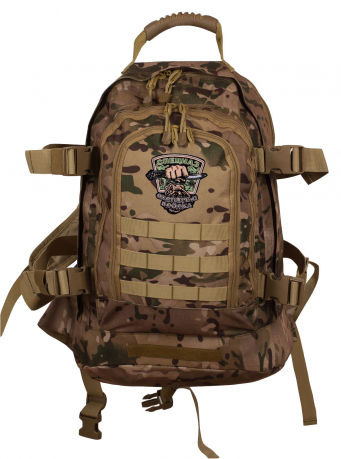 Камуфляжный тактический рюкзак с шевроном Охотничьего спецназа