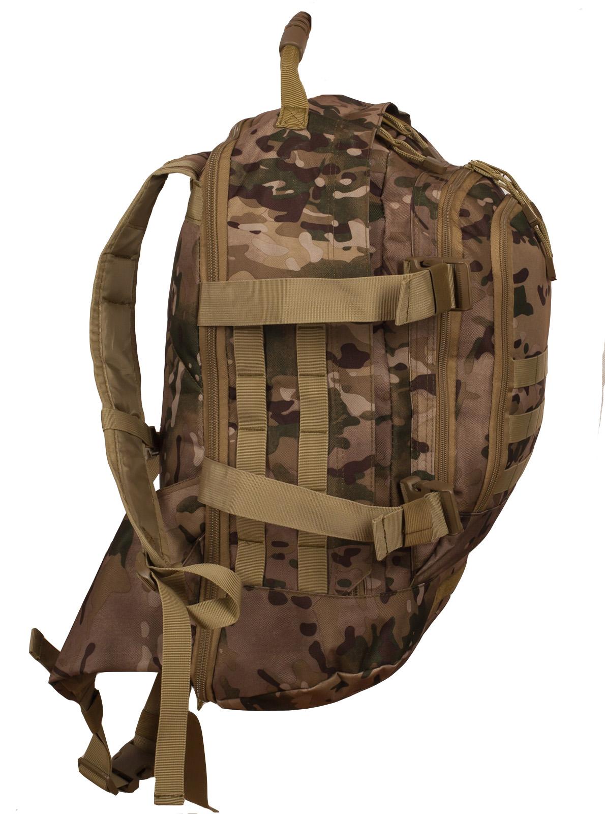 Заказать камуфляжный тактический рюкзак с шевроном Охотничьего спецназа