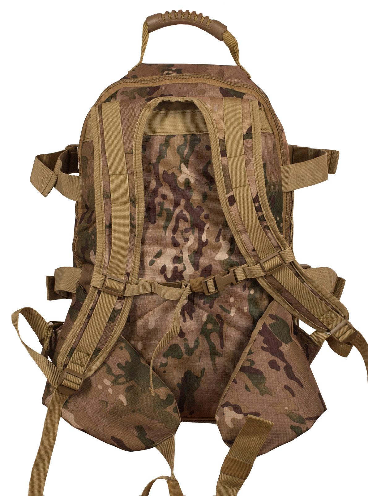 Камуфляжный тактический рюкзак с шевроном Охотничьего спецназа купить оптом