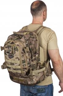 Камуфляжный тактический рюкзак с шевроном Охотничьего спецназа купить с доставкой