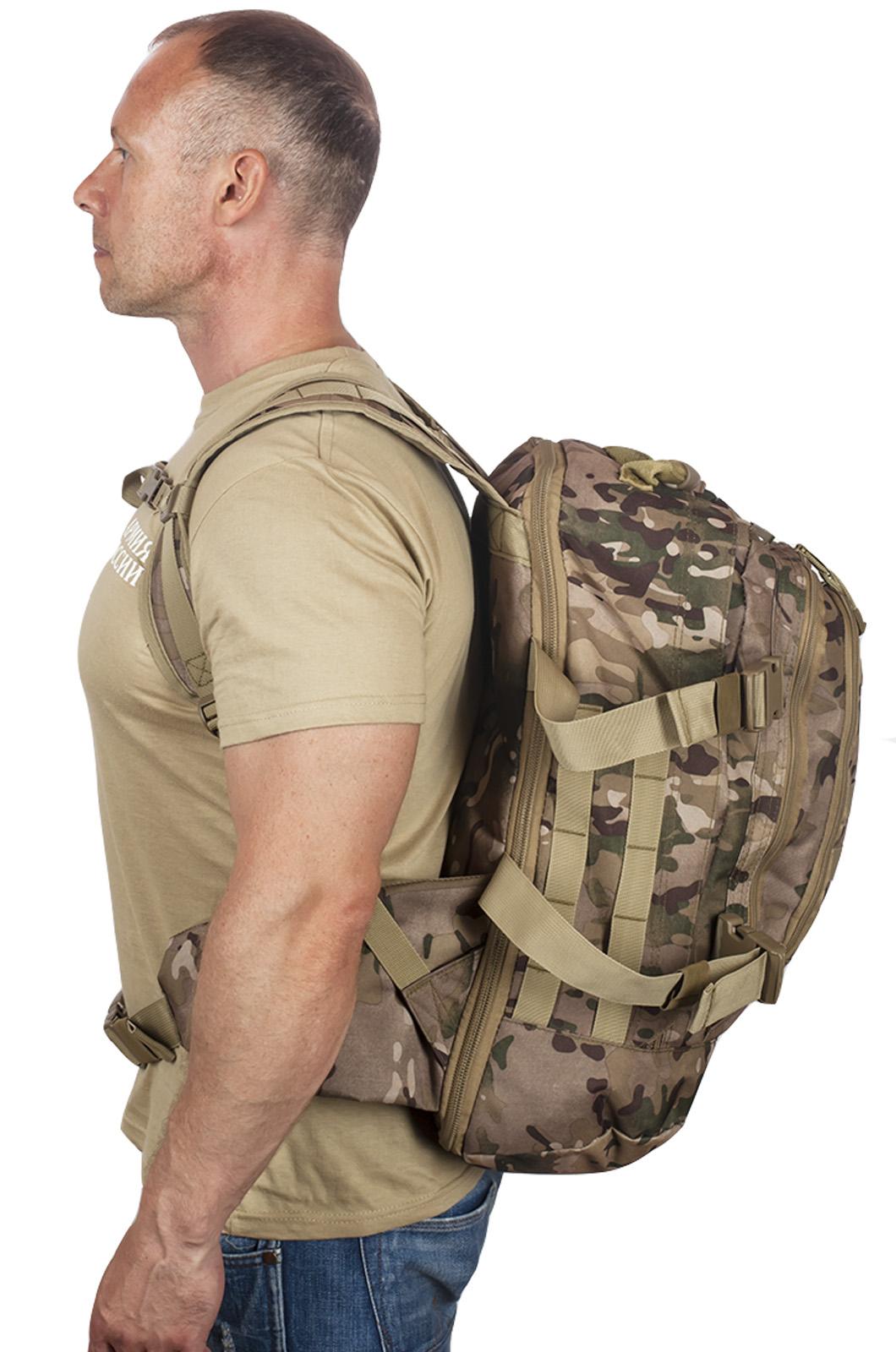 Камуфляжный тактический рюкзак с шевроном Охотничьего спецназа купить выгодно