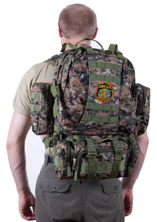 Камуфляжный тактический рюкзак US Assault с нашивкой Афган - купить оптом
