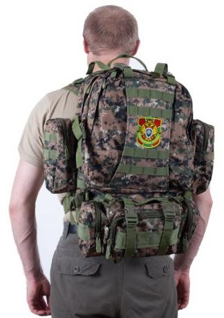 Камуфляжный тактический рюкзак US Assault с нашивкой Погранслужбы - купить онлайн