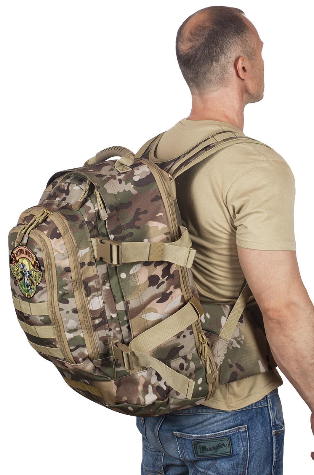 Камуфляжный трехдневный рюкзак с нашивкой Ни Пуха ни Пера - купить оптом