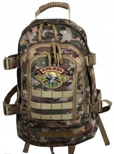 Камуфляжный трехдневный рюкзак с нашивкой Ни Пуха ни Пера - купить в розницу