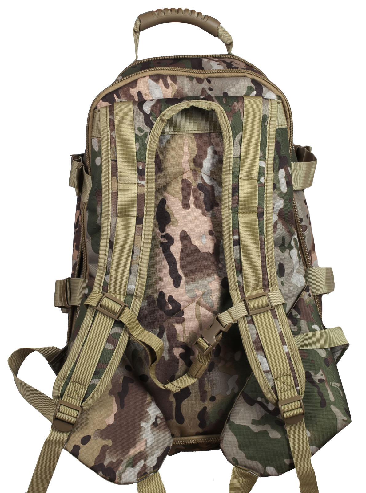Камуфляжный трехдневный рюкзак с нашивкой Ни Пуха ни Пера - купить в подарок