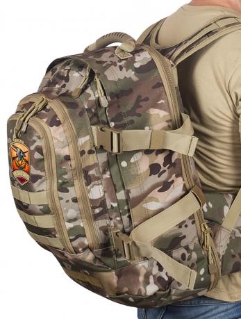 Камуфляжный трехдневный рюкзак с нашивкой Русская Охота