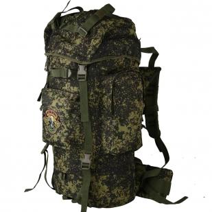 Камуфляжный туристический рюкзак с нашивкой НИ ПУХА, НИ ПЕРА! - купить выгодно
