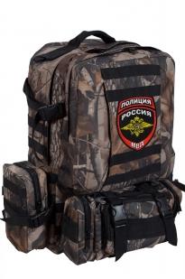 Камуфляжный удобный милитари-рюкзак с нашивкой Полиция России - купить в подарок