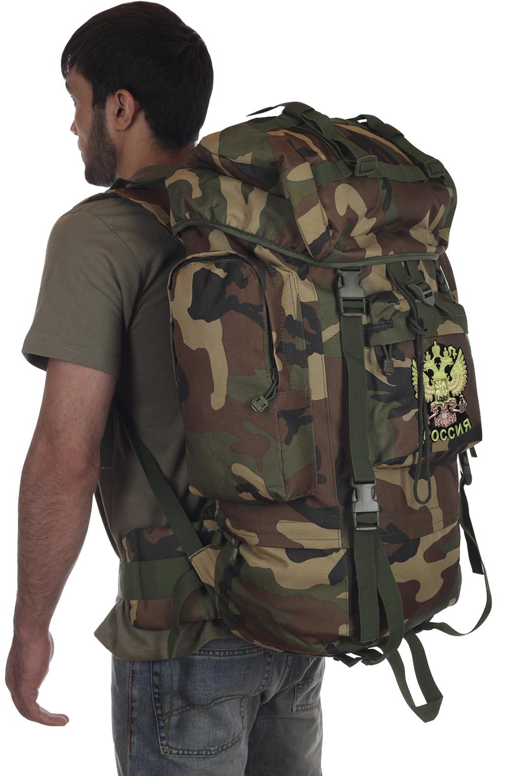 Камуфляжный удобный рюкзак CCE с нашивкой Герб России - купить оптом