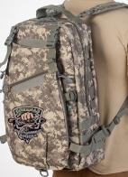 Камуфляжный удобный рюкзак с нашивкой Рыболовный Спецназ