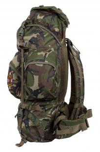 Камуфляжный вместительный рюкзак с нашивкой Потомственный Казак - заказать с доставкой
