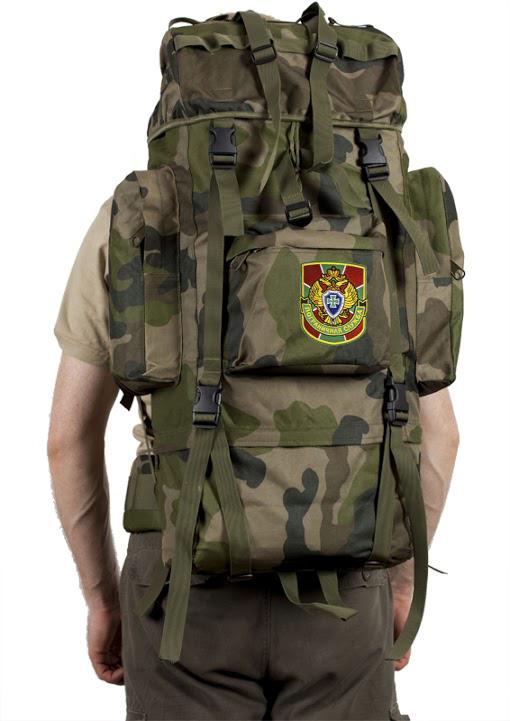 Камуфляжный военный рюкзак с нашивкой Погранслужбы - купить онлайн