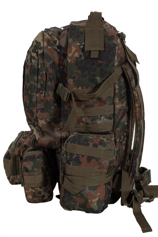 Камуфляжный военный рюкзак с нашивкой ПС - заказать оптом