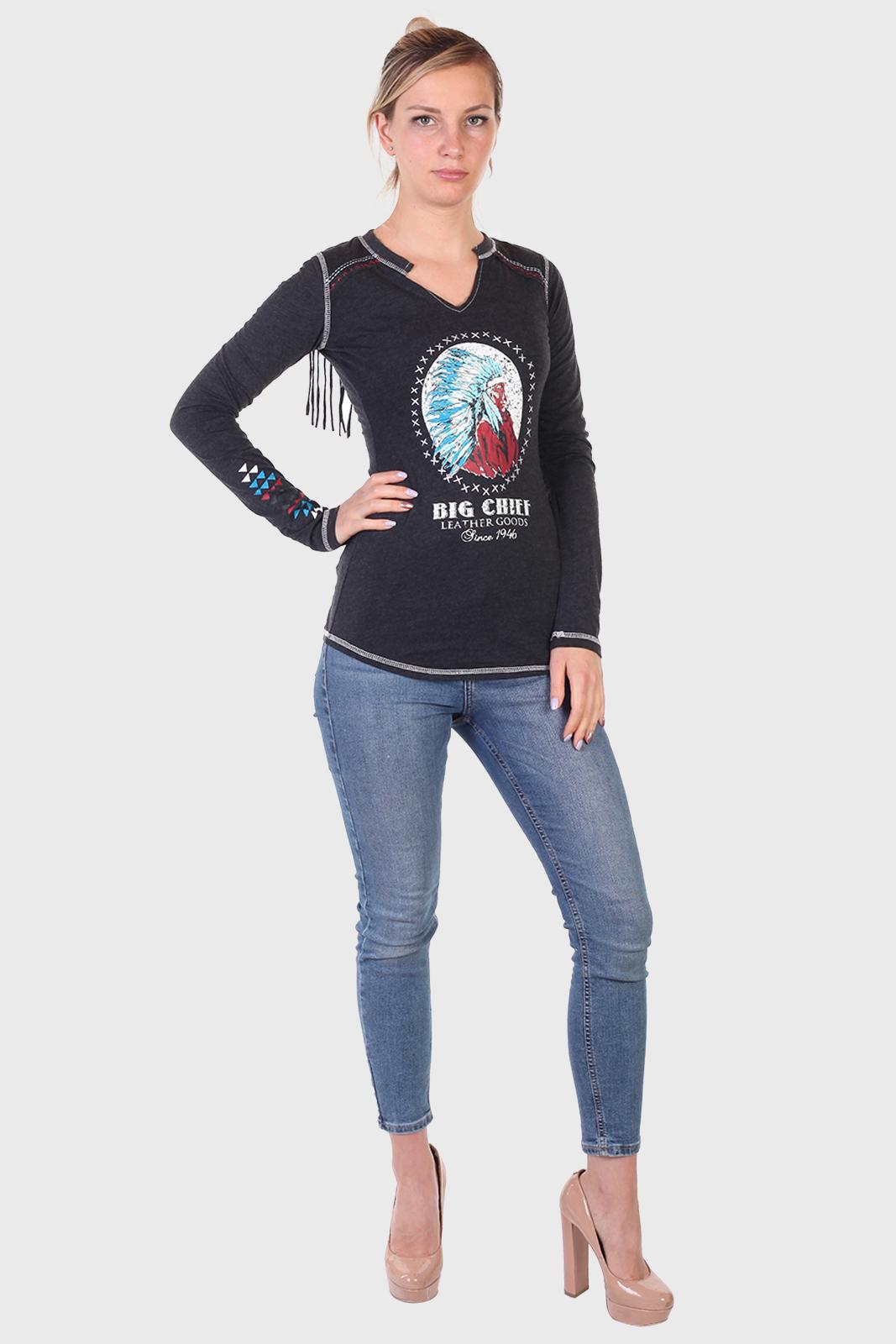 Купить в интернет магазине женский реглан с бахромой из коллекции Panhandle Slim