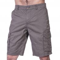 Натуральные мужские карго шорты W30in хаки-олива.