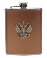 Карманная фляжка с гербом России
