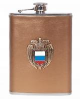 Карманная фляжка с жетоном ФСО России