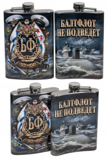 Карманная фляжка ВМФ Балтфлот не подведет - с доставкой