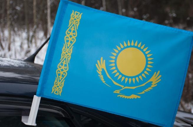 Казахстанский флаг на машину