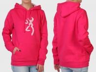 Розовая женская толстовка-кенгуру Browning