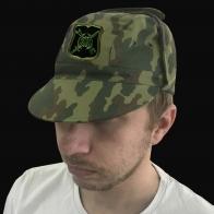 Камуфляжная кепка с шевроном 1231 ЦБУ РВСН.