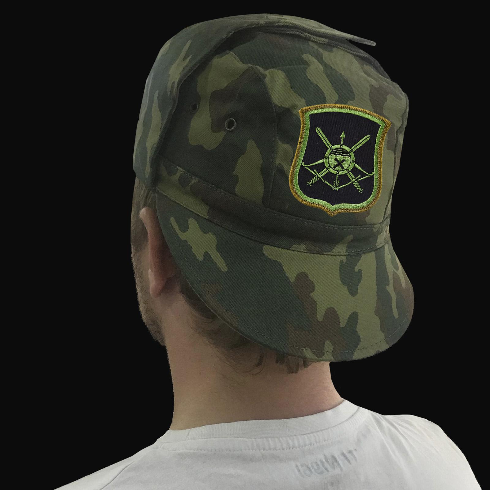 Купить камуфляжную кепку с шевроном Ракетных войск