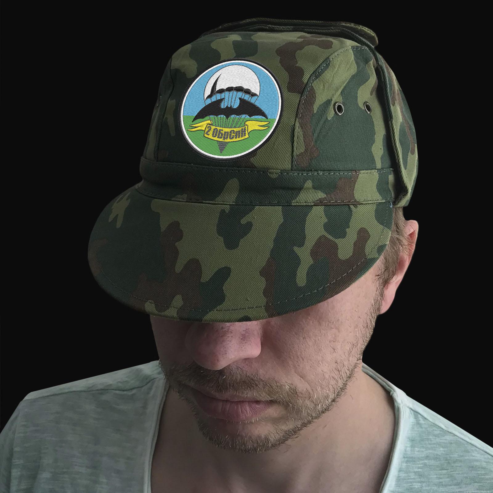 Мужская кепка с шевроном 2 ОБрСпН ГРУ