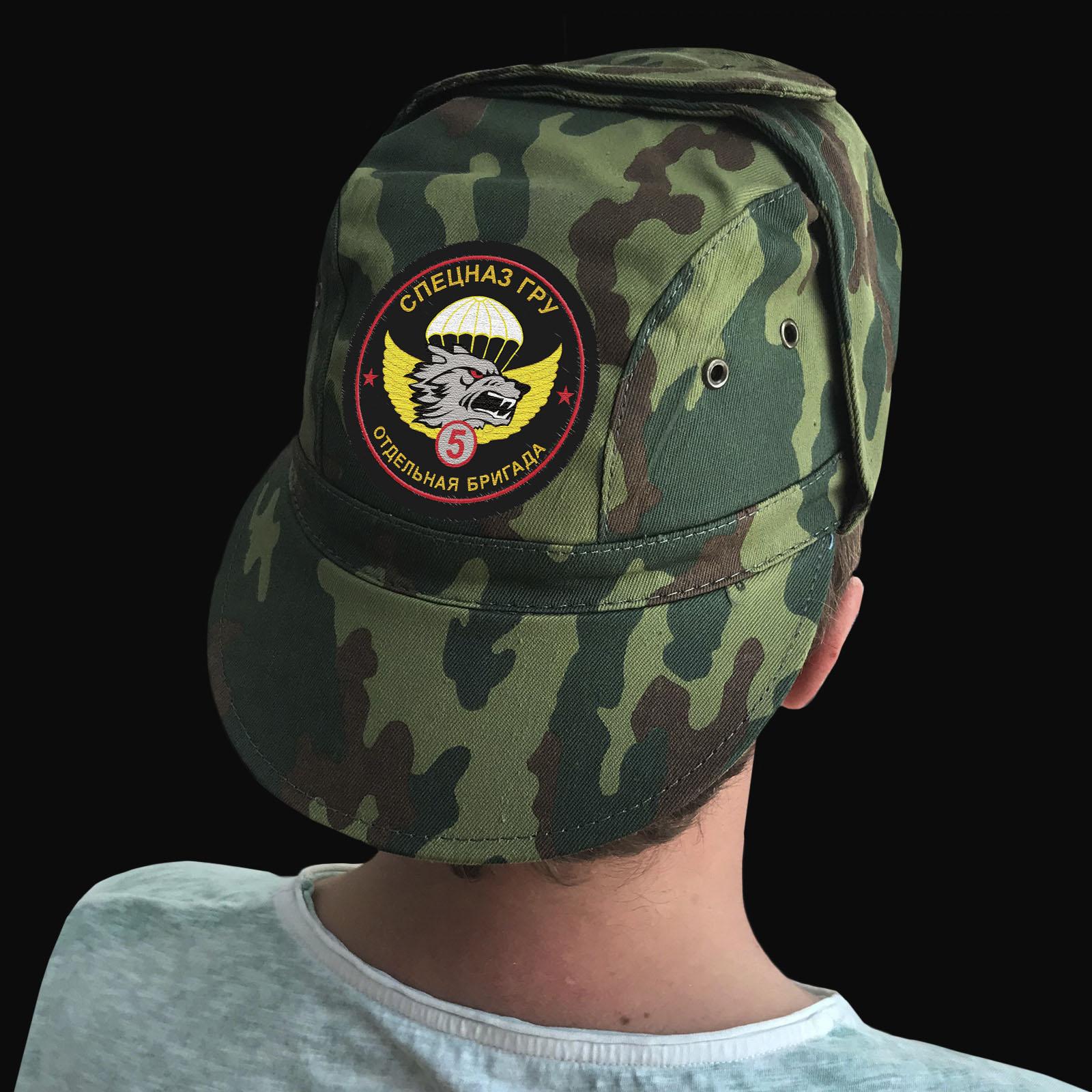 Кепка с шевроном 5 ОБрСпН ГРУ – тактический головной убор