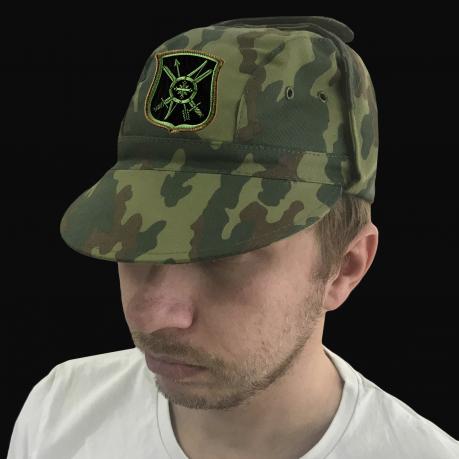 Полевая кепка-камуфляж с шевроном 8-ой ракетной дивизии РВСН.