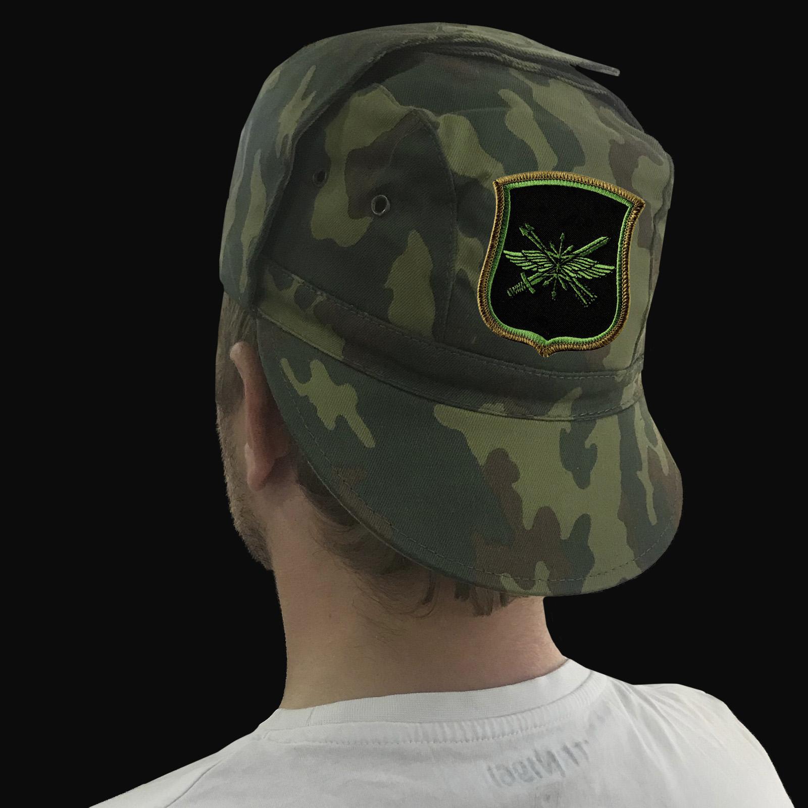 Мужская кепка камуфляж с шевроном 882-ого Центрального узла связи РВСН