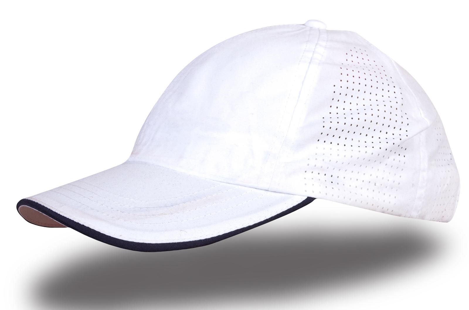 Кепка белая с перфорацией - купить в интернет-магазине с доставкой