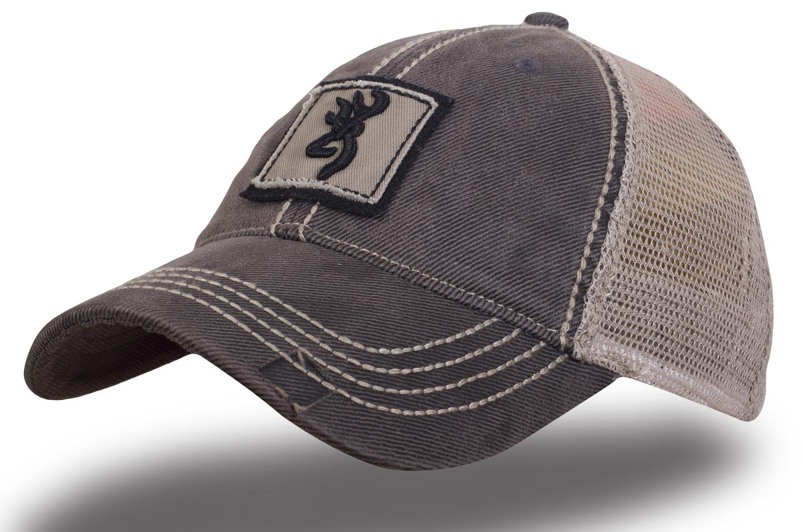 Кепка Browning серая с сеткой - купить в интернет-магазине с доставкой