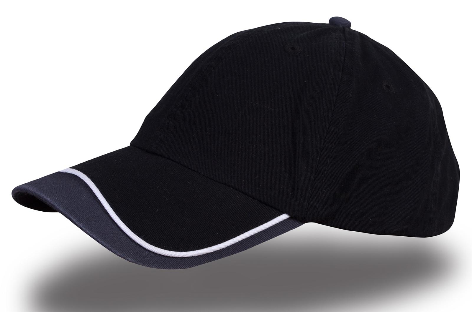 Кепка чернная с серым - купить в интернет-магазине с доставкой