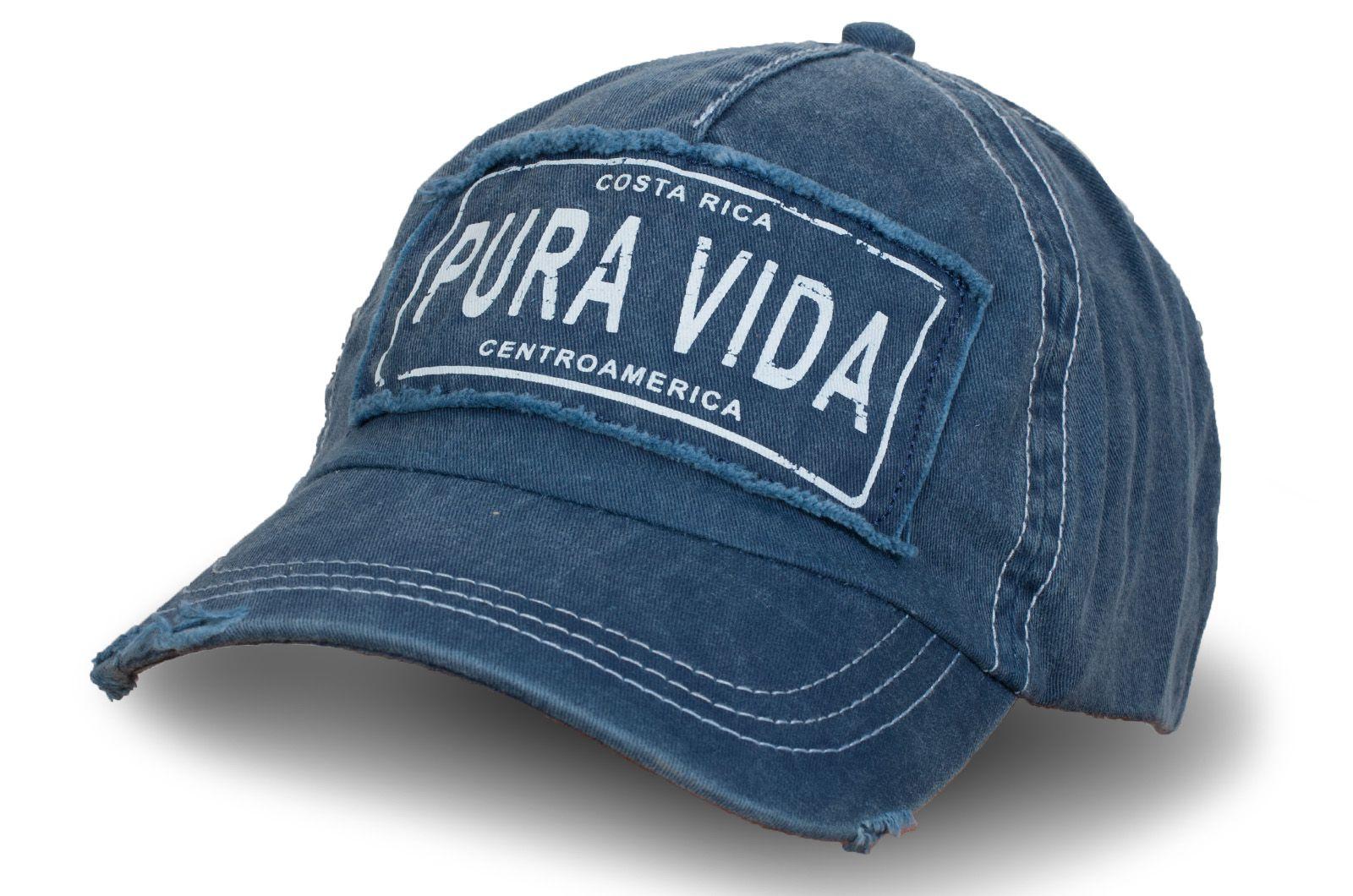 Кепка джинсовая состаренная Pura Vida