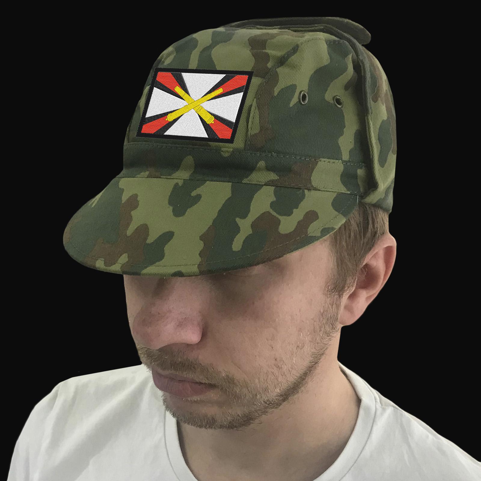 Мужская кепка камуфляж с вышивкой «Артиллерия России».
