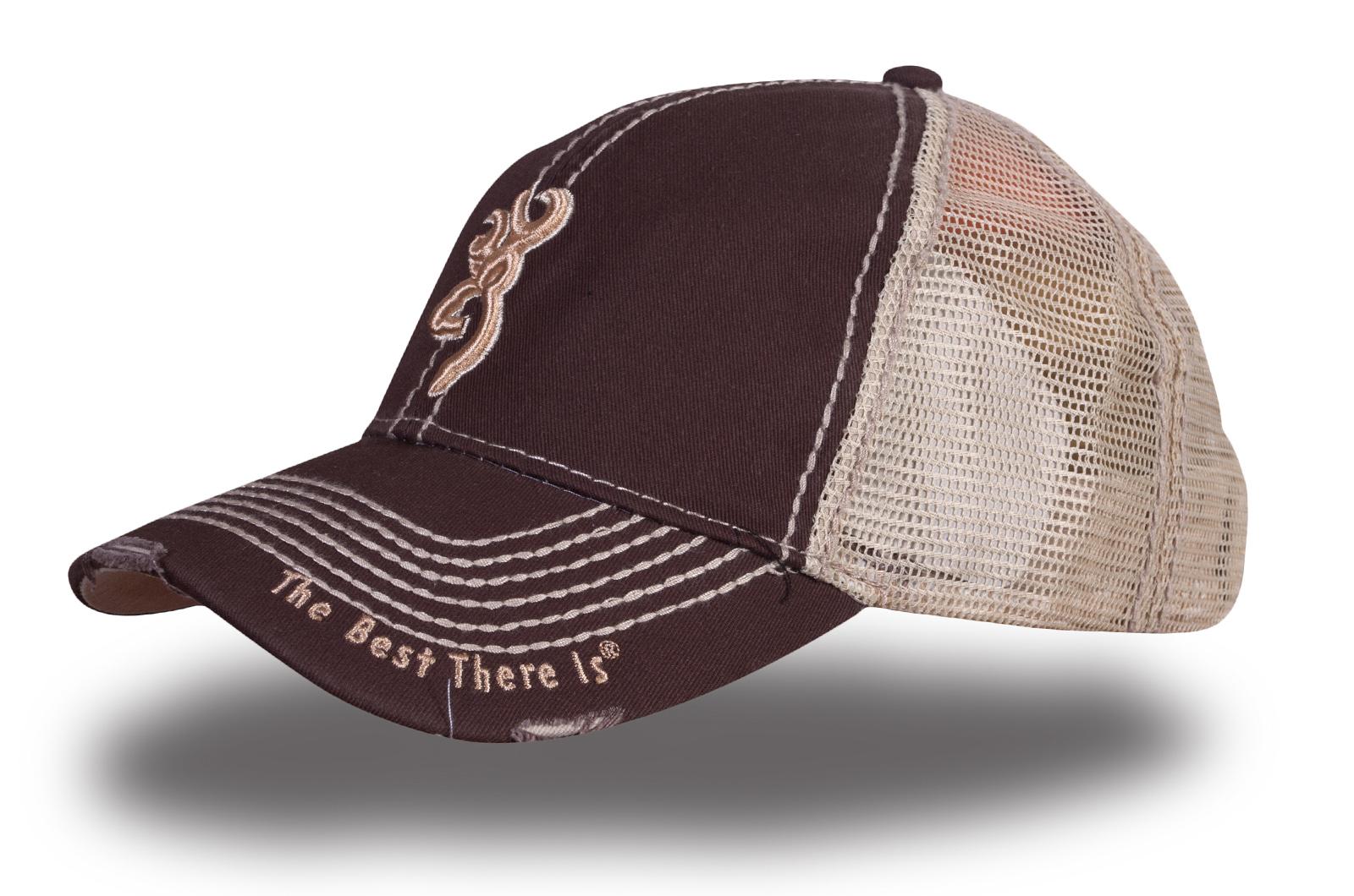 Кепка коричневая с сеткой - купить в интернет-магазине с доставкой