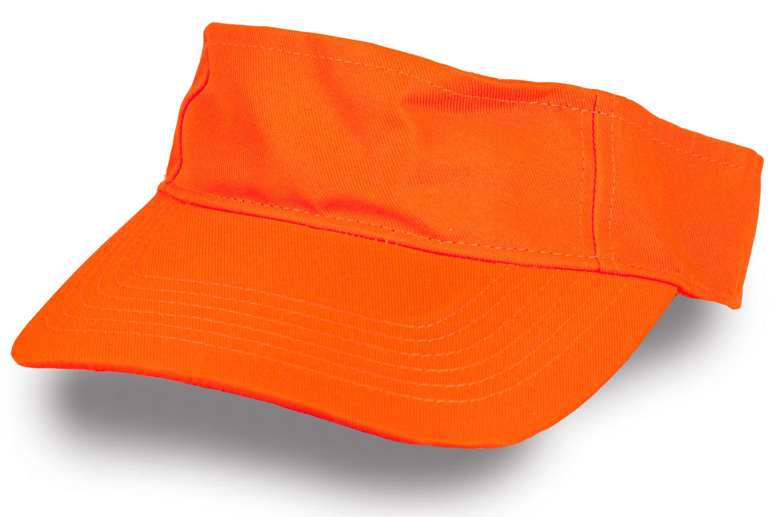 Кепка козрек оранжевый
