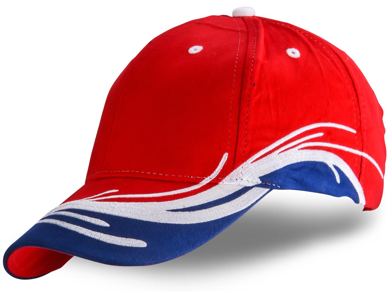 Кепка красно-сине-белая - купить в интернет-магазине с доставкой