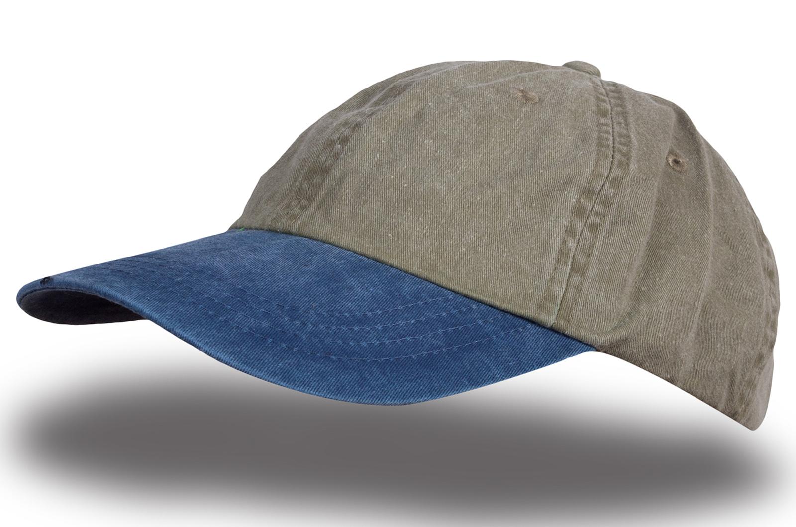 Кепка меланж синяя с серым - купить в интернет-магазине с доставкой