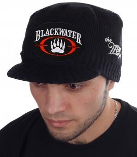 Мужская вязаная кепка с козырьком. Твой стиль Miller с эмблемой крупнейшей частной военной компании Blackwater Worldwide (Academi). Комфорт, тепло и стиль без компромиссов