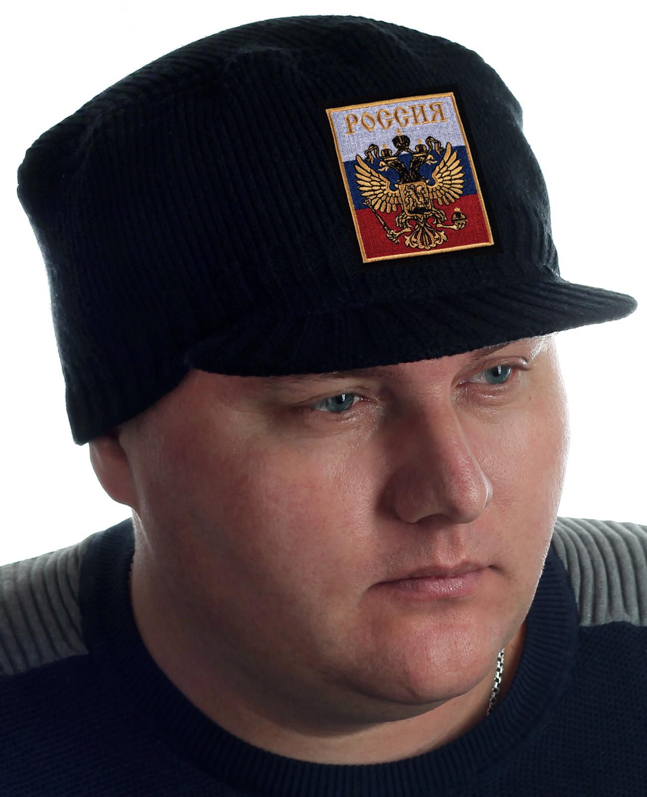 Теплая мужская кепка с Двуглавым орлом – ХИТ продаж!