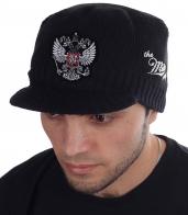 Мужская вязаная кепка Miller Way с серебристым Двуглавым Орлом